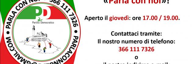 """Al via lo sportello territoriale del PD: """"Parla con noi!"""""""